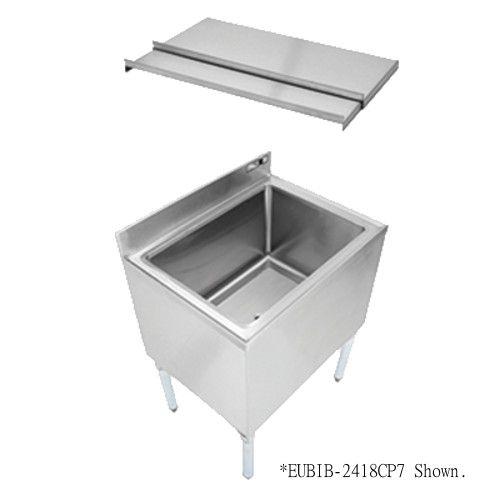 John Boos EUBIB-3018CP7 Slim-Line Underbar Ice Bin / Cocktail Unit with 7-Circuit Cold Plate