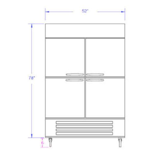Beverage Air FB49-1HS Half Solid Two Section Reach-In Freezer
