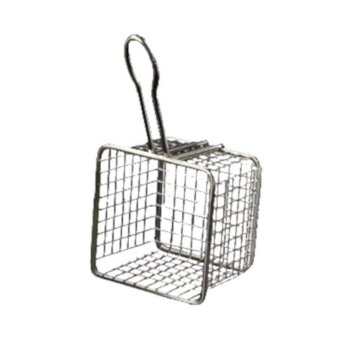 American Metalcraft FRYS443 Square Tabletop Serving Fry Basket (Case of 24)