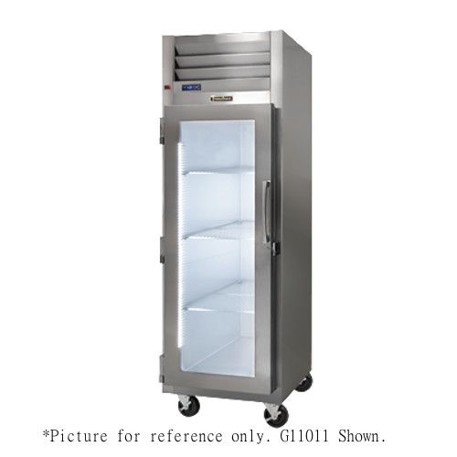 Traulsen G11010-032 Glass Door Display Reach-In Refrigerator - Hinged Right