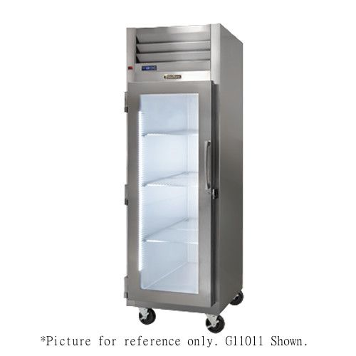 Traulsen G11010 Glass Door Display Reach-In Refrigerator - Hinged Right