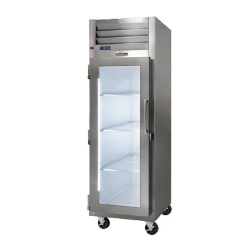 Traulsen G11011-032 Glass Door Display Reach-In Refrigerator - Hinged Left