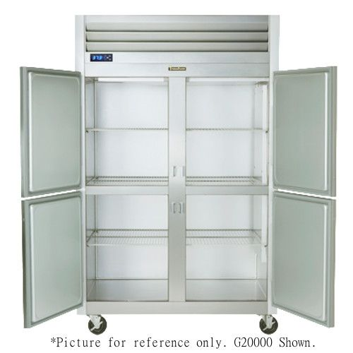 Traulsen G20002 2 Section Half Door Reach In Refrigerator - Hinged Right/Right