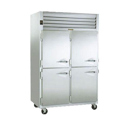 Traulsen G20045-032 2 Section 1/2 Door Pass-Thru Refrigerator- Hinged Left/Left
