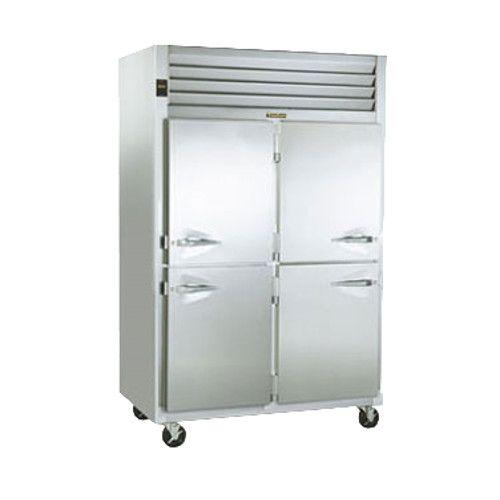 Traulsen G20046-032 2 Section 1/2 Door Pass-Thru Refrigerator- Hinged Right/Left