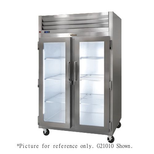 Traulsen G21012 2 Section Glass Door Reach-In Refrigerator- Hinged Right/Right