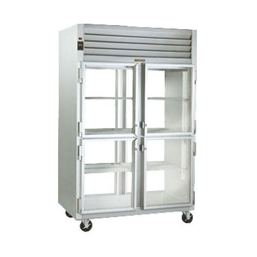 Traulsen G21045-032 Glass Half Door Pass-Thru Refrigerator- Hinged Left/Left