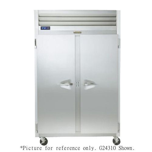 Traulsen G24304P 2 Section Pass-Through Half Door Hot Food Holding Cabinet with Left / Right Hinged Doors