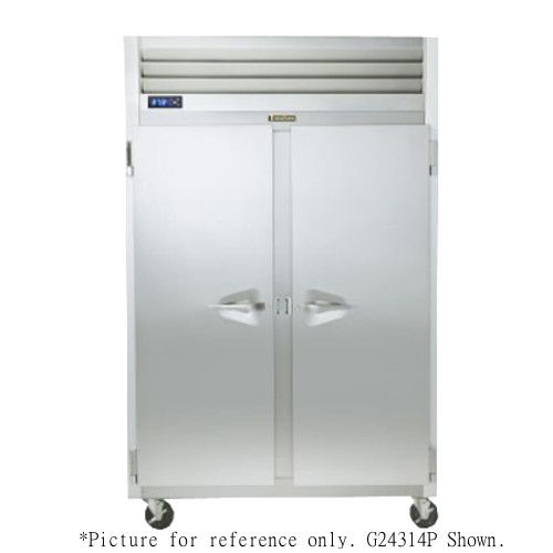 Traulsen G24305P 2 Section Pass-Through Half Door Hot Food Holding Cabinet with Left Hinged Doors