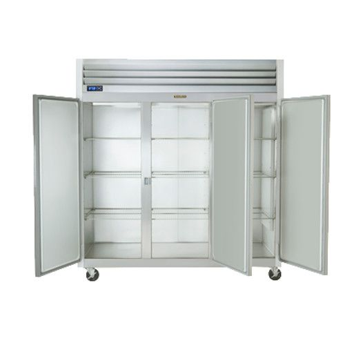 Traulsen G30000 3 Section 1/2 Door Reach-In Refrigerator Hinged Left/Right/Right