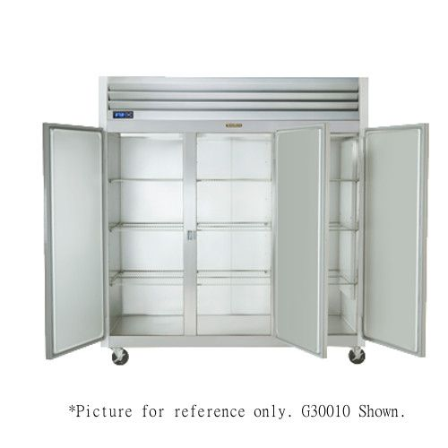 Traulsen G30002 3 Section Half Door Reach-In Refrigerator- Hinged Right