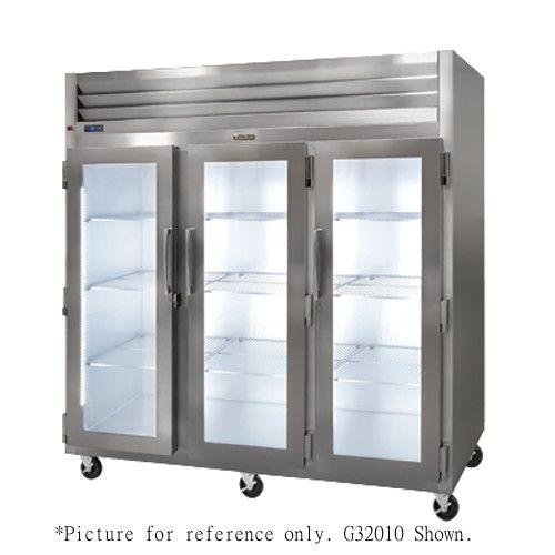 Traulsen G32013 3 Section Glass Door Reach-In Display Refrigerator- Hinged Left