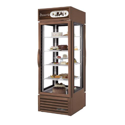 True G4SM-23PT-HC~TSL01 Four Sided Swing Door Pass-Thru Merchandiser Refrigerator