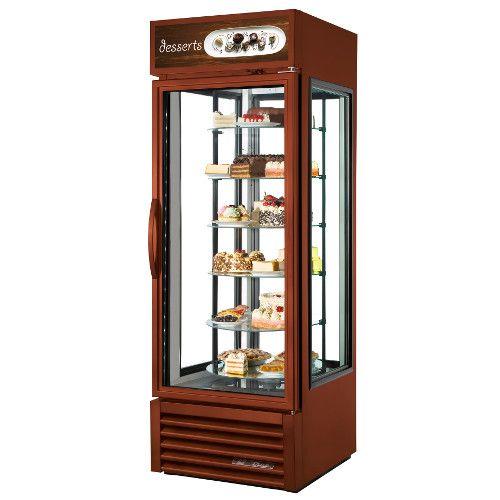 True G4SM-23RGS~TSL01 Four Sided Rotating Shelf Merchandiser Refrigerator