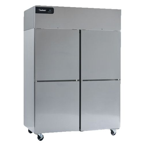 Delfield GBF2P-SH Coolscapes Series Reach-In Two-Section Solid Half-Door Freezer
