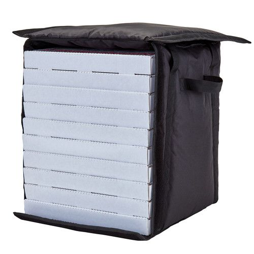 Cambro GBP1018110 Black Pizza Delivery Bag - Case of 4