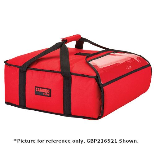 Cambro GBPP218521 Premium Red Pizza Delivery Bag - Two 18