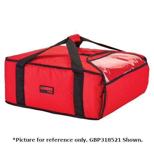 Cambro GBPP218110 Premium Black Pizza Delivery Bag - Two 18