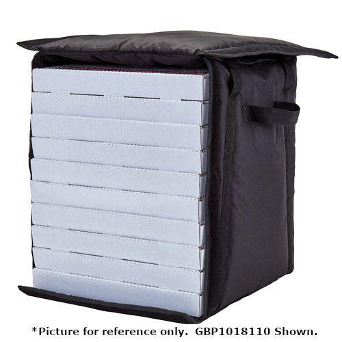 Cambro GBPP214110 Premium Black Pizza Delivery Bag - Two 14