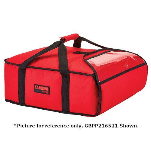 Cambro GBPP216110 Premium Black Pizza Delivery Bag - Two 16