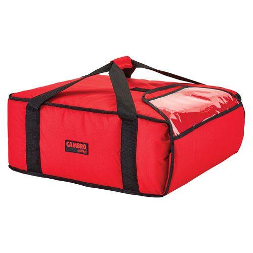 Cambro GBPP318521 Premium Red Pizza Delivery Bag - (3) 18