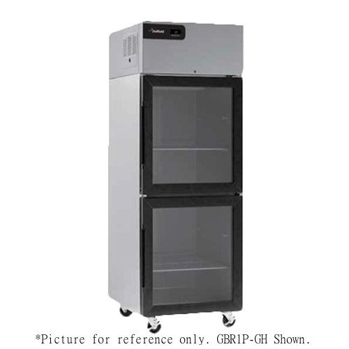 Delfield GBR2P-GH Coolscapes Series Reach-In Two-Section Glass Half-Door Refrigerator
