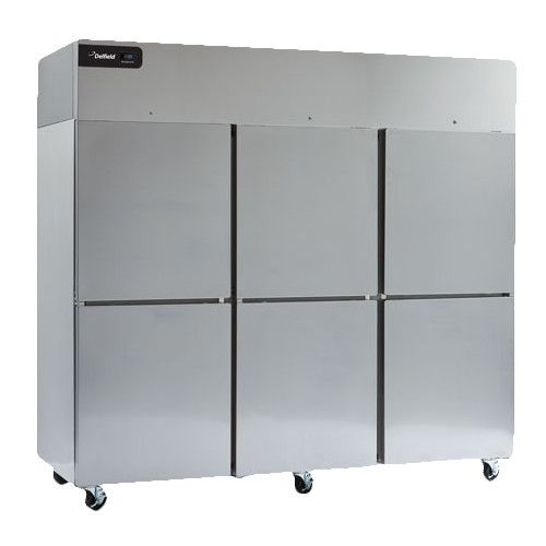 Delfield GBF3P-SH Coolscapes Series Reach-In Three-Section Solid Half-Door Freezer