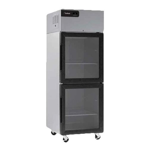 Delfield GCR2P-GH Coolscapes Series Reach-In Two-Section Glass Half-Door Refrigerator