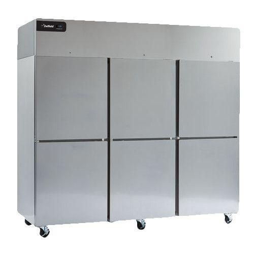 Delfield GCR3P-SH Coolscapes Series Reach-In Three-Section Solid Half-Door Refrigerator