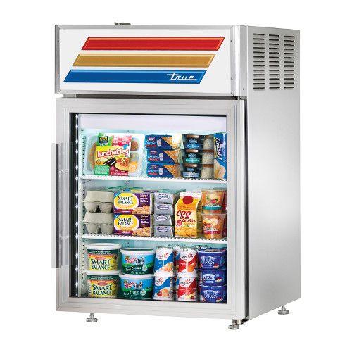 True GDM-05PT-S-HC-LD Countertop Pass-Thru Refrigerated Merchandiser Stainless Exterior