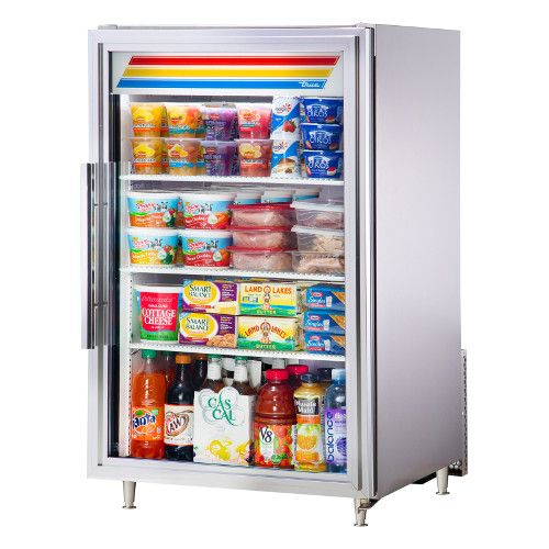 True GDM-07-S-HC~TSL01 Countertop Refrigerated Merchandiser Stainless Exterior