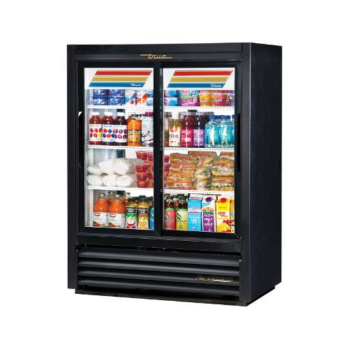 True GDM-33CPT-54-LD Two Section Pass-Thru Convenience Store Cooler