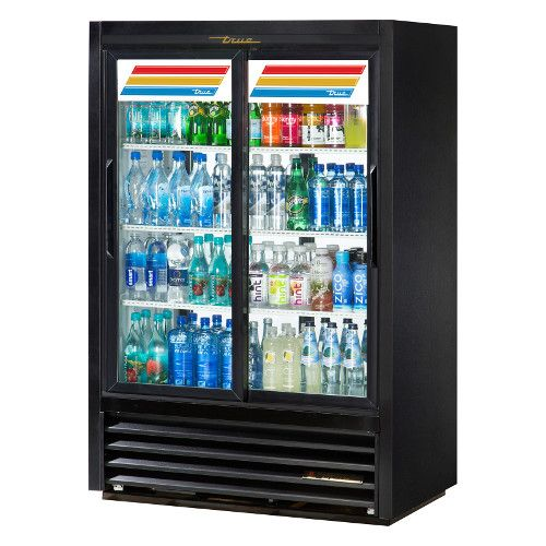 True GDM-33CPT-LD Two Section Pass-Thru Convenience Store Cooler