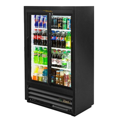 True GDM-33SSL-56-HC-LD Two Section Convenience Store Cooler
