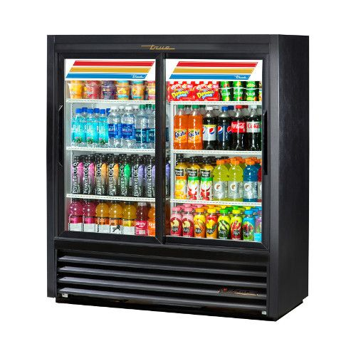 True GDM-41SL-54-HC-LD Two Section Slide Door Convenience Store Cooler
