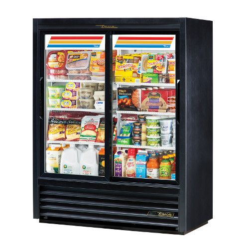 True GDM-41SL-60-HC-LD Two Section Slide Door Convenience Store Cooler