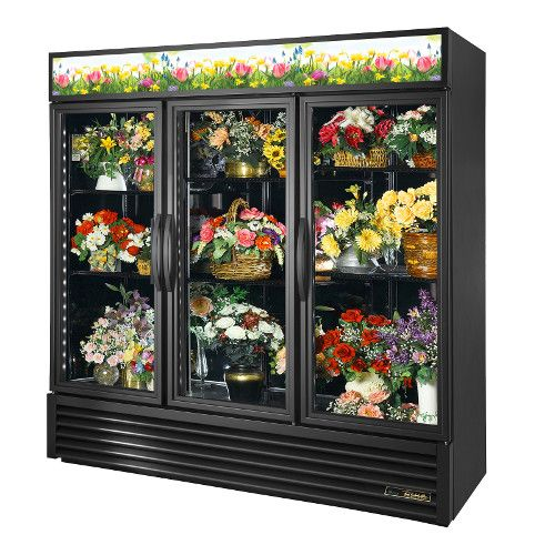 True GDM-72FC-HC~TSL01 Three Section Floral Merchandiser