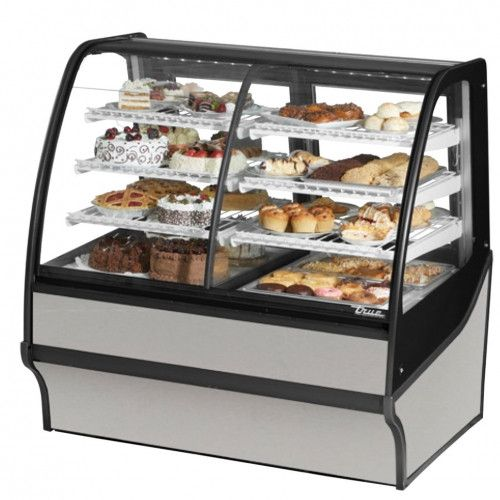 True TDM-DC-48-GE/GE-S-S Non-Refrigerated Stainless Steel Display Merchandiser w/ Stainless Steel Shelves