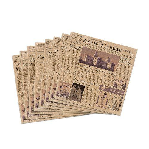 GET 4-TE1050 Food-Safe Brown Cuban Newsprint 12X12 Basket Liner