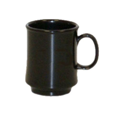 GET TM-1308-BK 8 oz. Black Plastic Mug (2 dozen per case)