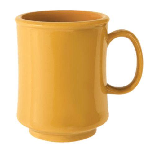GET TM-1308-TY 8 oz. Tropical Yellow Plastic Mug (2 dozen per case)
