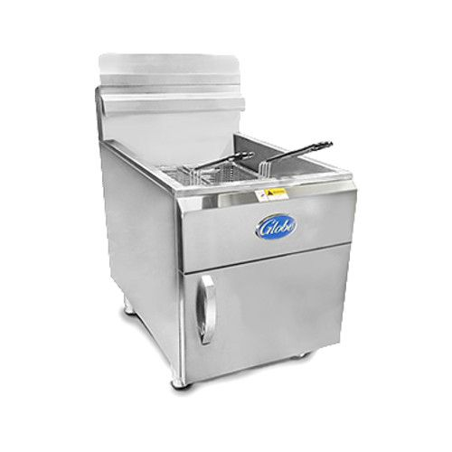 Globe GF30PG 30 lb. Liquid Propane Countertop Fryer - 53,000 BTU