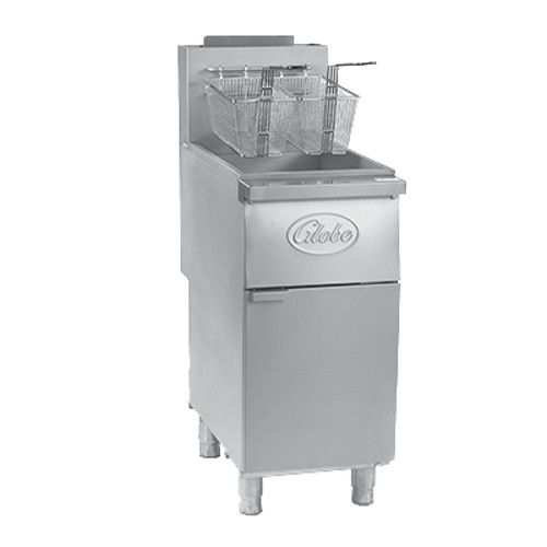 Globe GFF35PG Liquid Propane 35-40 lb. Stainless Steel Floor Fryer