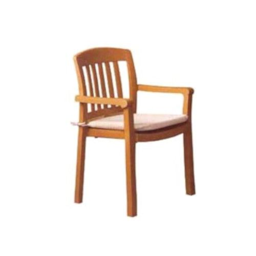 Grosfillex 49442008 Atlantic Teakwood Armchair (1 dozen)