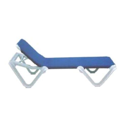 Grosfillex 99101006 Nautical Blue Chaise w/o Arms (1 dozen)