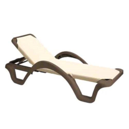 Grosfillex 99202099 Catalina Custom Chaise w/ Arms & White Frame (14 per case)