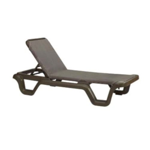 Grosfillex 99515137 Marina Espresso Chaise w/ Bronze Mist Frame (14 per case)