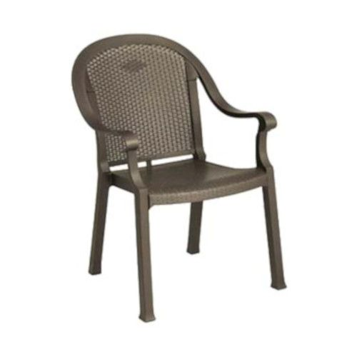 Grosfillex 99720037 Sumatra Bronze Mist Stacking Armchair (4 per case)