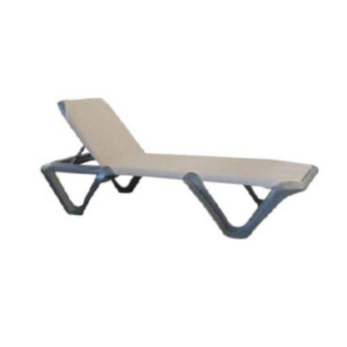 Grosfillex 99901102 Nautical Pro Espresso Chaise w/ Charcoal Frame (1 dozen)