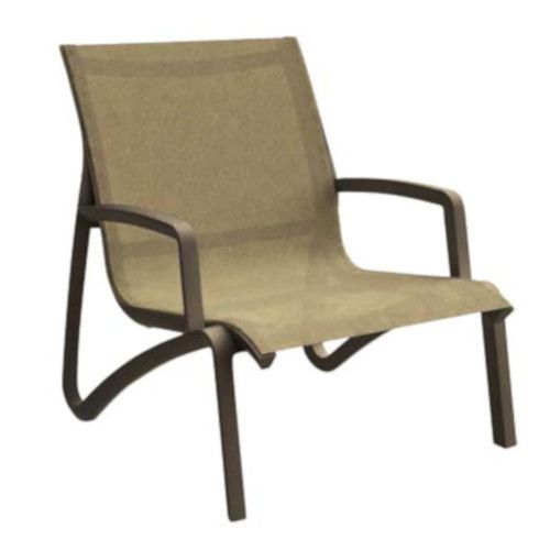 Grosfillex US001599 Cognac/Fusion Bronze Sunset Armless Lounge Chair (4 per case)